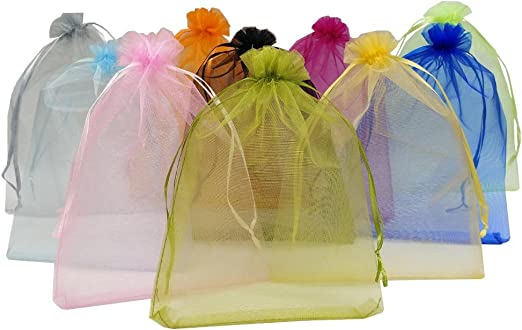 Large Organza Favour Pouches gift  Bag little toys Bags Drawstring Wedding Party