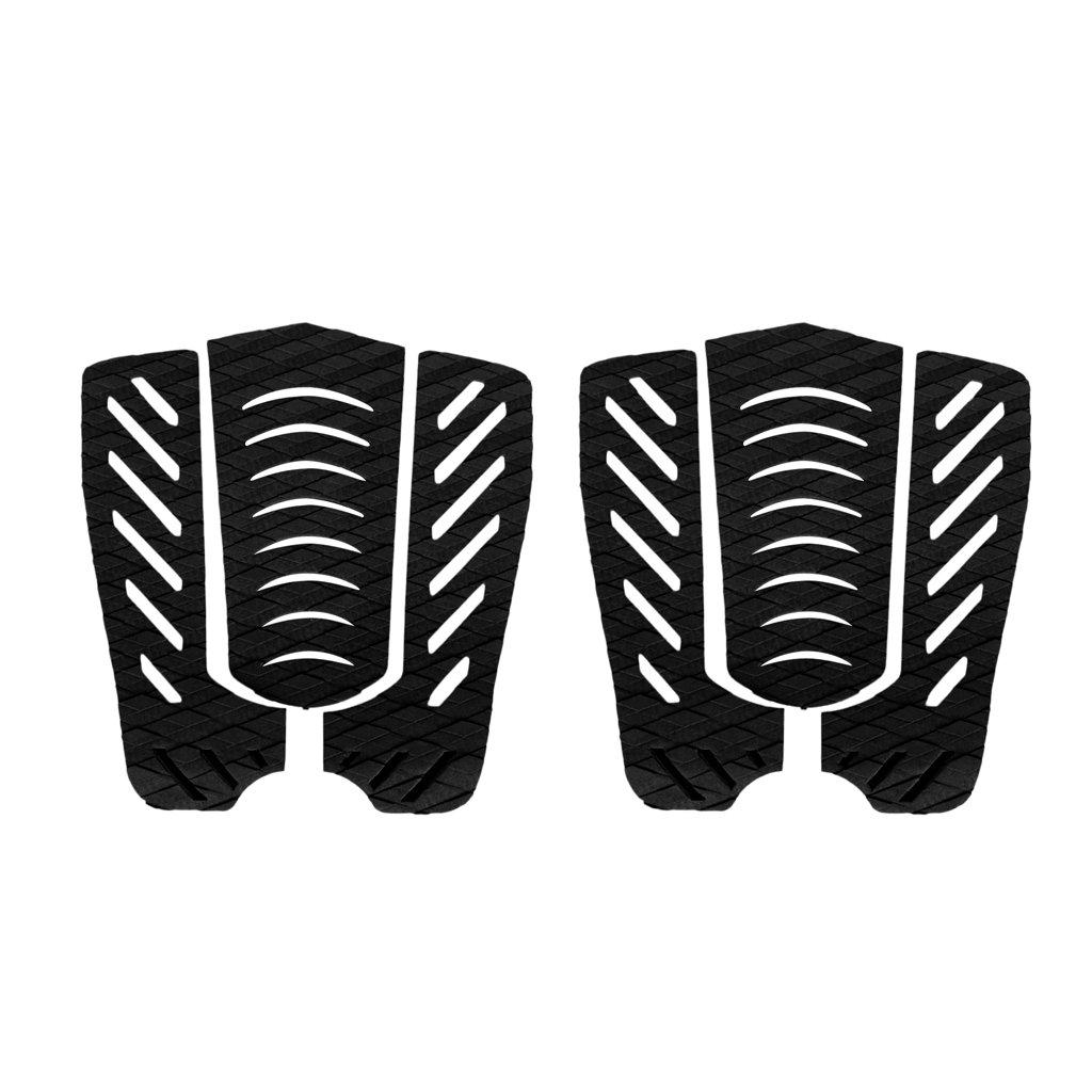 Homyl 6 Pezzi di Tavole da Surf Traction Pad Deck Grip Tail Pads Sportivo Accessori - Nero
