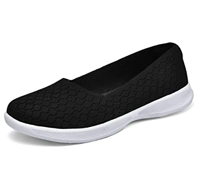 a0fce6a722574 Echoine Women's Slip On Loafers Lightweight Breathable Casual Walking Shoes