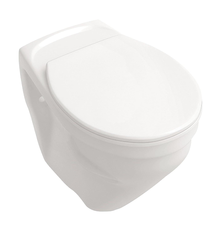 Wand-WC-Set +6 cm | Erhöhtes WC | Weiß | Inklusive WC-Sitz | Für Senioren und große Menschen | Tiefspüler Sanitop-Wingenroth 04757 9