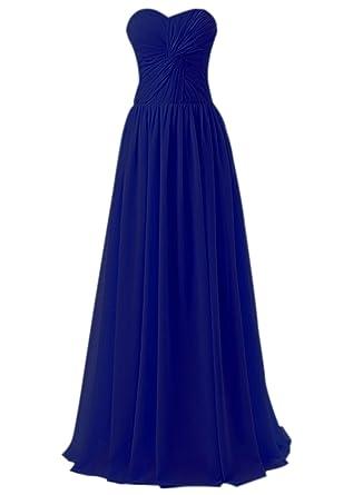 Azbro Womens Elegant Knot Front Strapless Prom Dress, Royal Blue XXXXL