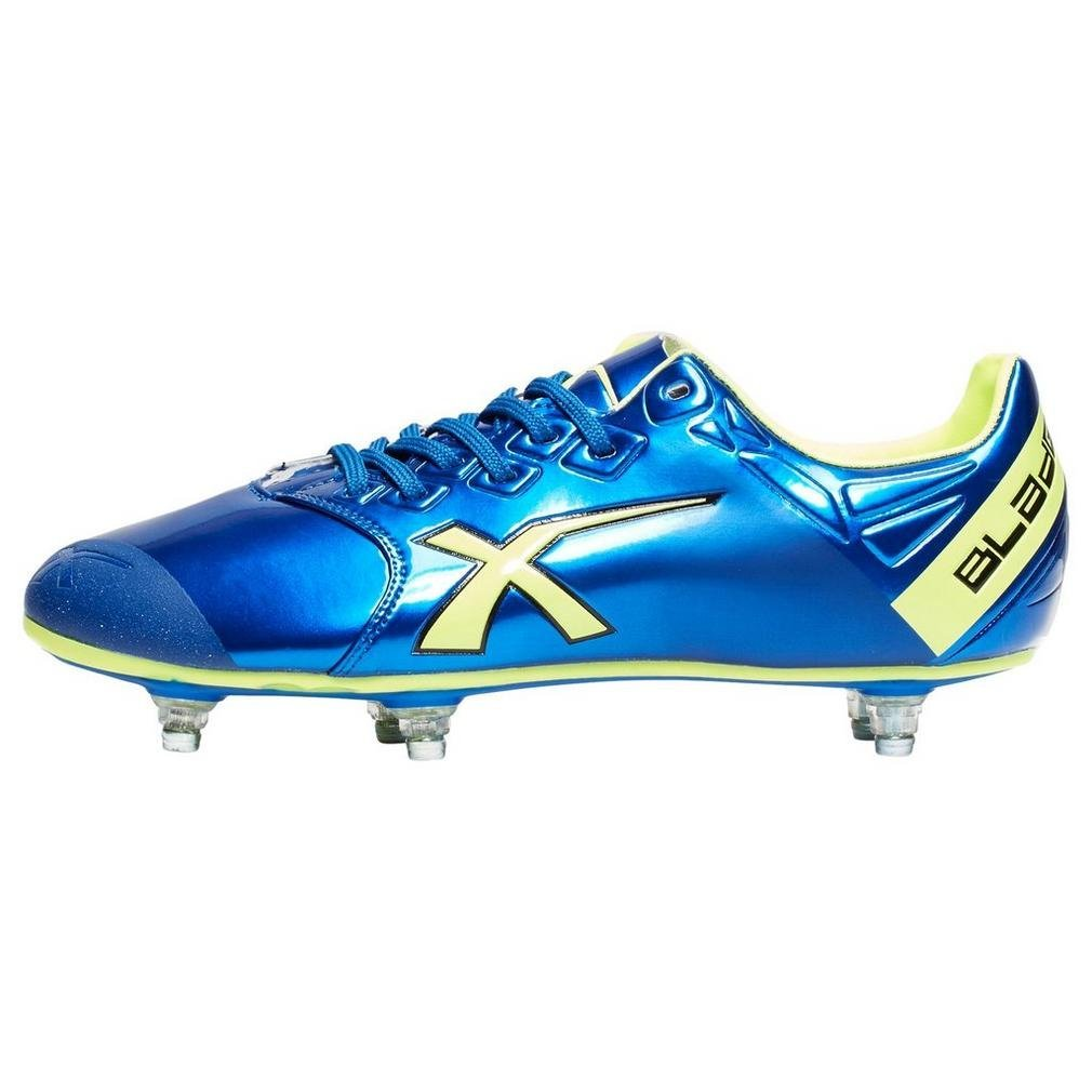 X Blades SNIPER SPEED 6 STUD RUGBY BOOT, Blue/Green, US12