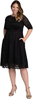 product image for Kiyonna Women's Plus Size Lacey Cocktail Dress