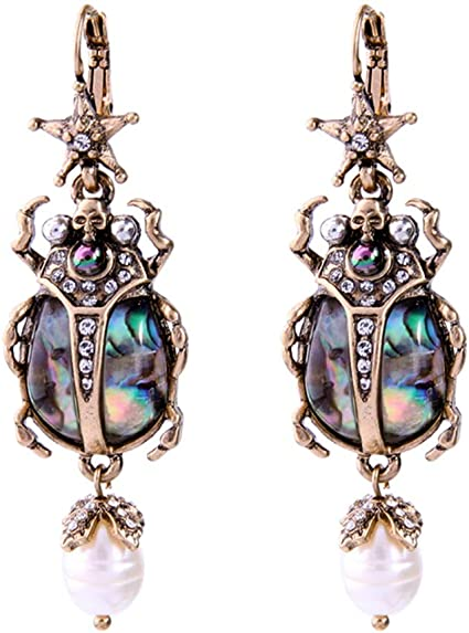 Vintage goldtone dangle earrings