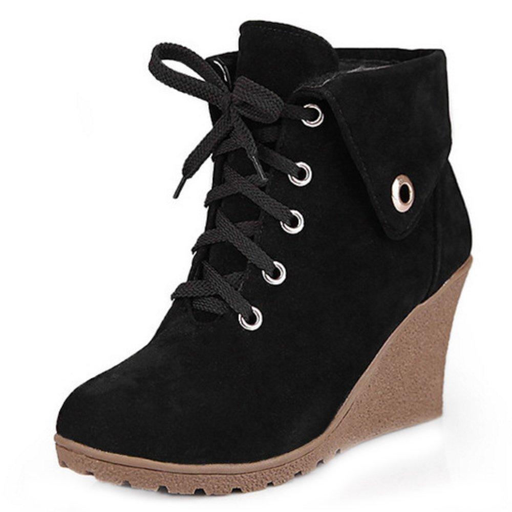 Bottes Femmes Chaussures Hiver Amazon Talon Bottines Zanpa Compense xYq7n6SdwP