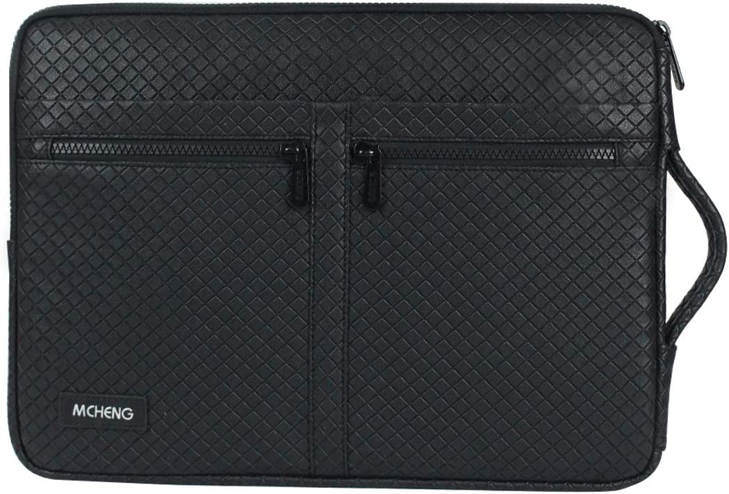 MCHENG 10 inch Tablet Case, Laptop Sleeve with Carrying Handle for Apple iPad/Air, Google Nexus, Amazon Fire, Lenovo IdeaTab, Samsung Galaxy Tab 4 / Note, ASUS MeMO Tablet, Black