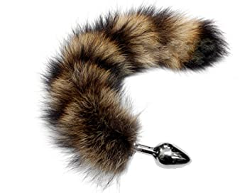 d52e34177 Image Unavailable. Image not available for. Color  Faux Fur Wild Racoon  Large Butt Plug Tail