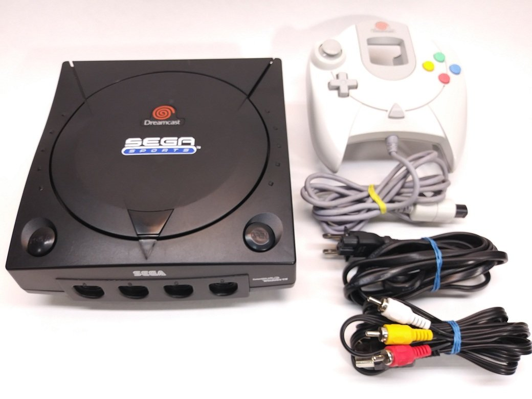 Sega Dreamcast System - Video Game Console (Black Sega Sports Edition): Video Games