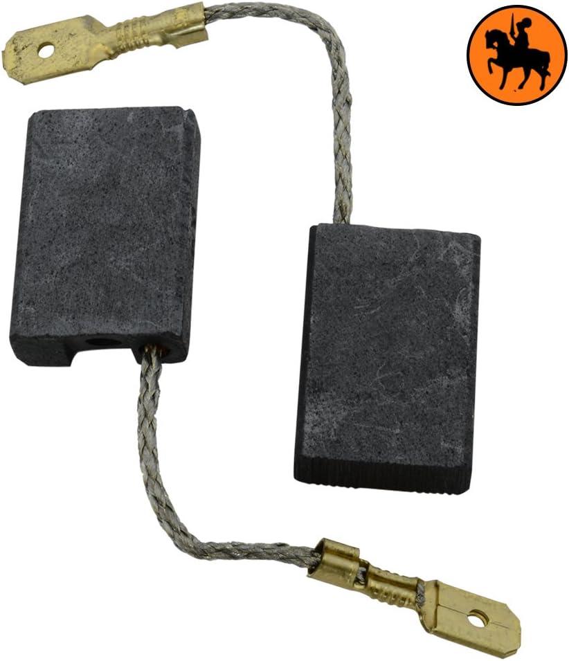 6x16x24mm Balais de Charbon pour Metabo WX 20-230 SP