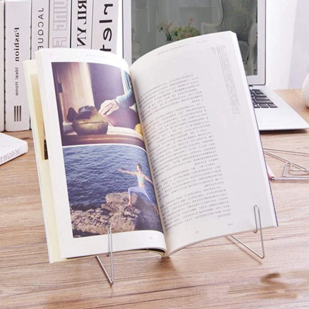 supporto per libro musicale con cavalletto nero Nero piccolo supporto per libri da cucina leggio regolabile per la lettura supporto in metallo Kaptin