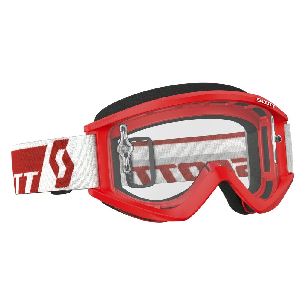 Scott Sports USA Unisex-Adult Recoil Xi Goggles (Red / Clear Works, One Size),246485-0004113