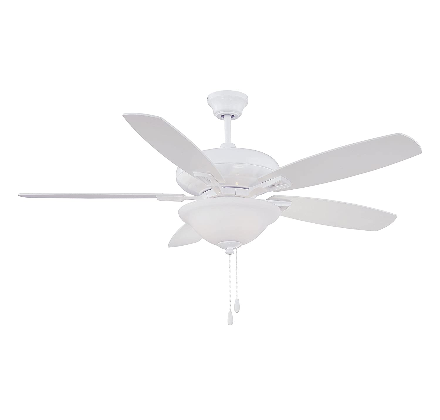 Savoy House 52 831 5WH WH Mystique 5 Blade Ceiling Fan in White