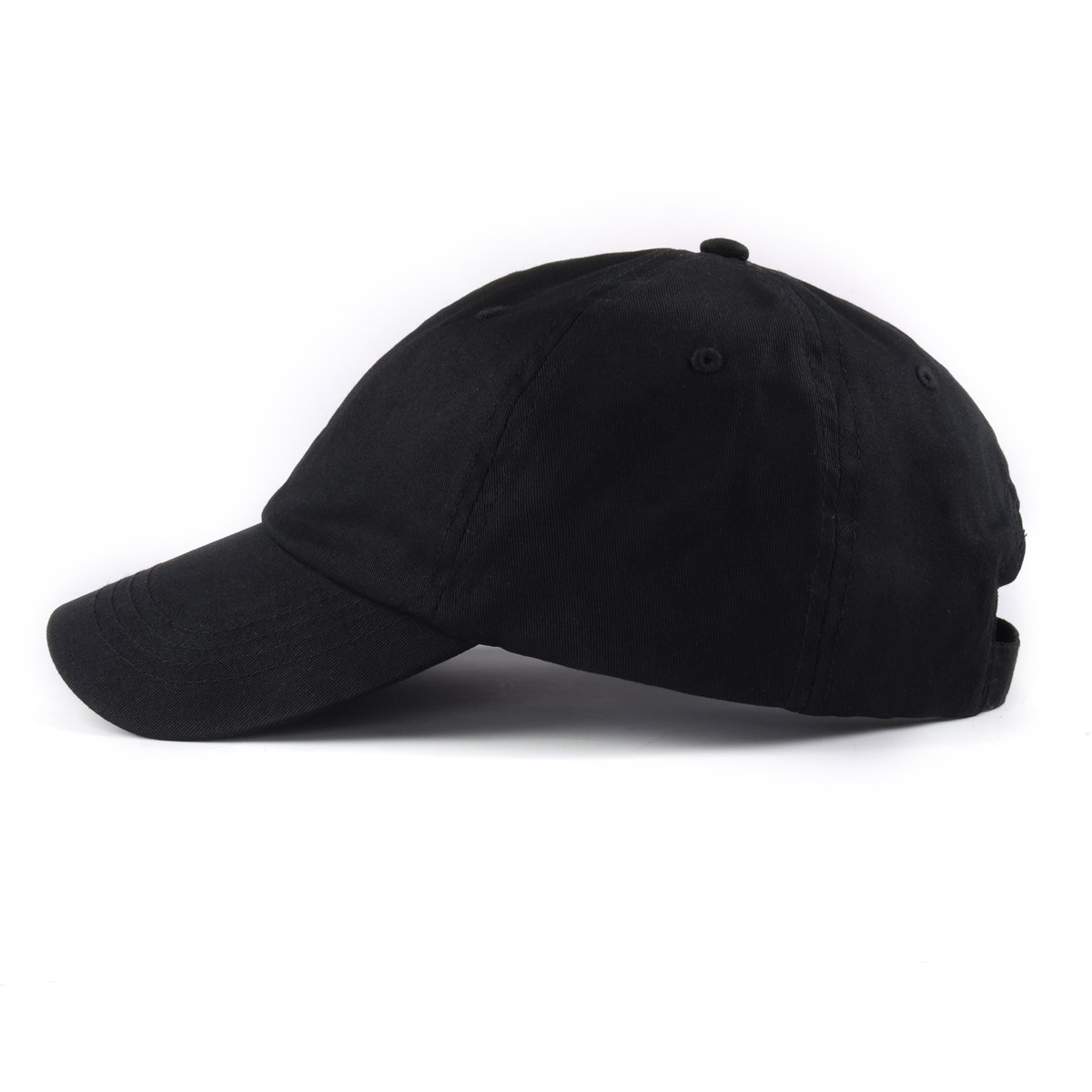 2aeec136 AUNG CROWN Plain Dad Hat Women Men Cute Adjustable Cotton Floral Baseball  Cap (Black Plain)