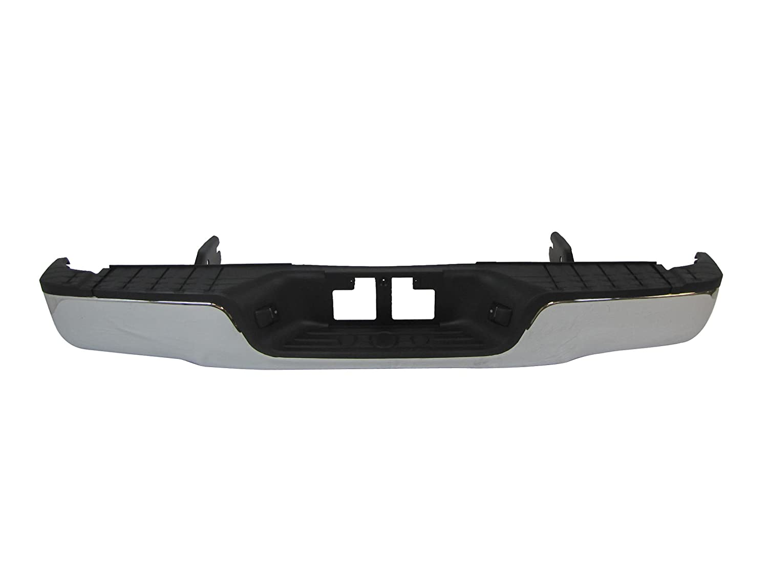07-11 TOYOTA TUNDRA REAR STEP BUMPER FACE BAR CHROME FULL ASSY WITH TOP PAD  & BUMPER SUPPORT,WITHOUT SENSOR HOLE