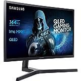 "Samsung C27FG73 Monitor per PC Desktop Curvo VA da Gaming 27"" Full HD, 1920 x 1080, 144 Hz, 1 ms, Base a Doppio Snodo, Nero"