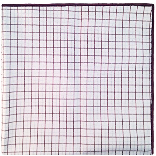 White, Brown and Blue Plaid Reverse Pocket Square Mens Pocket Square The Detailed Male