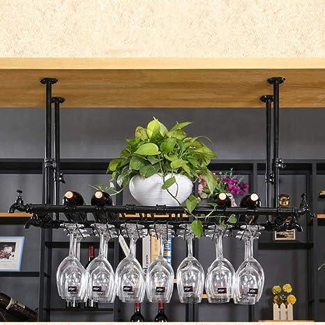 Estante para vinos Portavasos de Vino Barro casero de Hierro Forjado Rack de cálices de Hotel