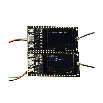 Amazon com: 2Pcs TTGO LORA SX1278 ESP32 0 96 OLED Module 16 Mt Bytes