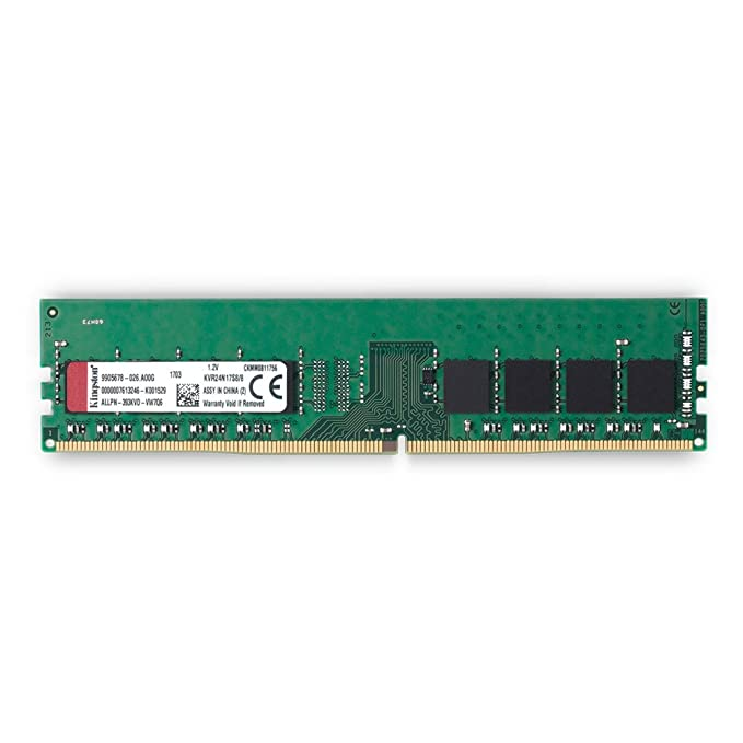 Kingston ValueRAM 8GB 2400MHz DDR4 Non-ECC CL17 DIMM 1Rx8 Desktop Memory KVR24N17S8 8 Memory at amazon