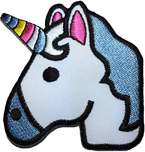 Unicorn cute size 2.75 x 3 inch biker heavy metal Horror Goth Punk Emo Rock DIY Logo Jacket Vest shirt hat blanket backpack T shirt Patches Embroidered Appliques Symbol Badge Cloth Sign Costume Gift