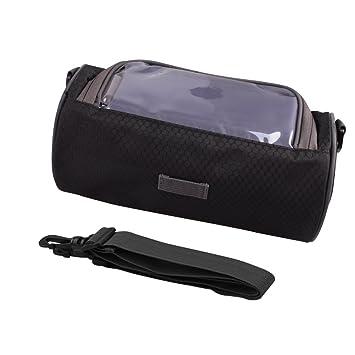 Bolsa de manillar de bicicleta con ventana para móvil compatible con pantalla táctil, resistente al agual de SUNNIOR