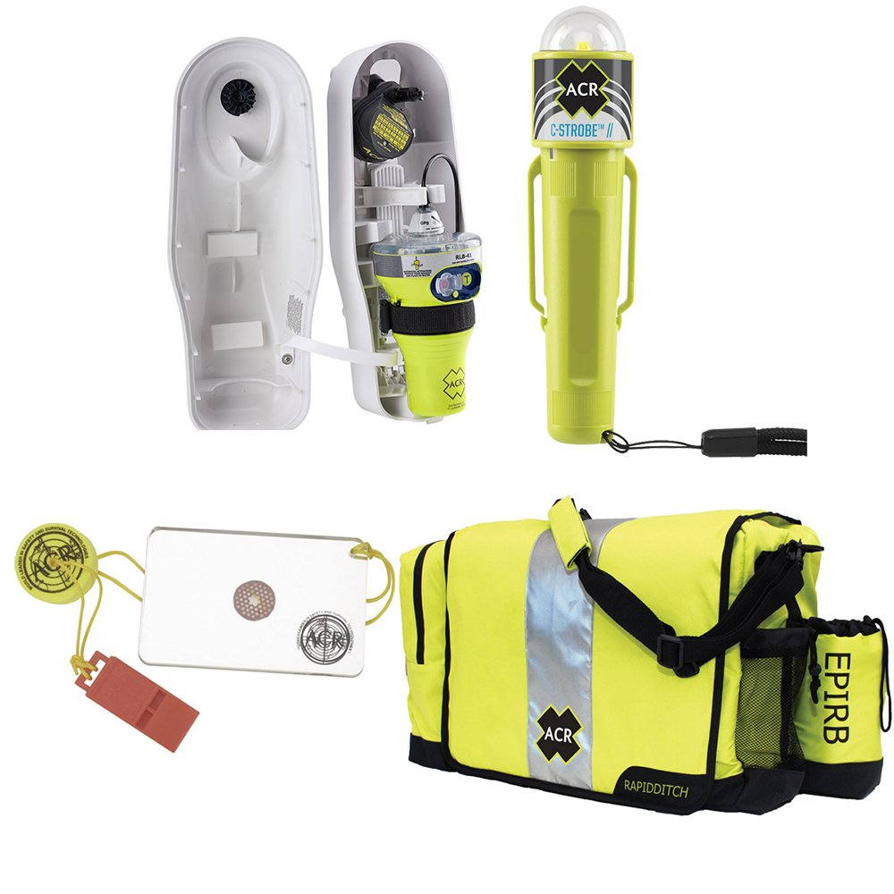 ACR Electronics Acr Epirb Safety Kit #1 - W/globalfix V4 Cat I, Rapidditch Bag, C-Strobe, & Hotshot Mirror & Whi