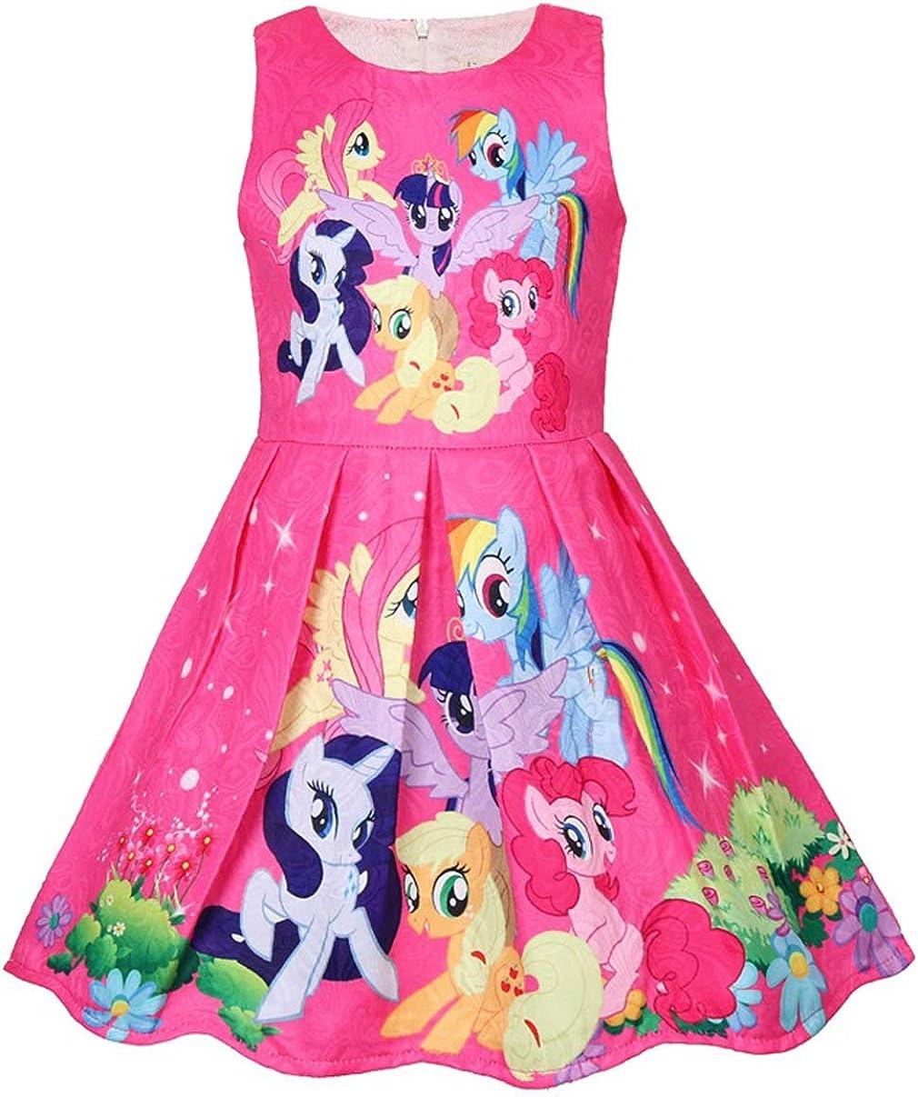 Girls Unicorn Dress Costumes Fancy Birthday Party Dress up