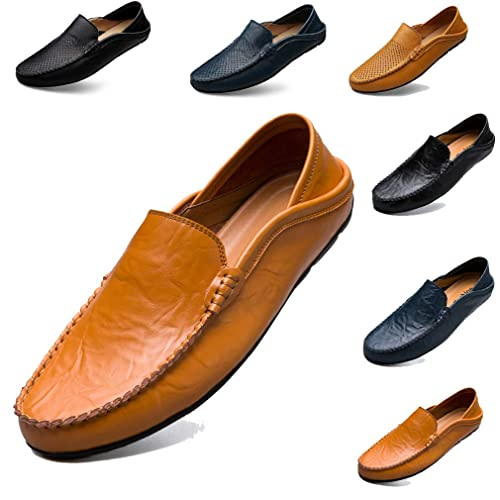 bb94e3cbecc02 Hommes Mocassins Chaussures Plates Chaussures Décontractées Chaussures  Bateau Doux Cuir Chaussures de Conduite Chaussure Bateau(EU 38-46)   Amazon.fr  ...