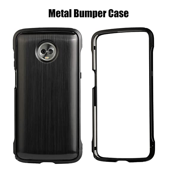 new concept 2224e 4f746 HikerClub Moto Z3 Case Z3 Play Case Bumper Mods Compatible Aluminum Metal  Frame with Hand Strap Protective Case Cover for Motorola Moto Z3/Z3 Play ...