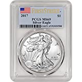 2017 American Silver Eagle (1 oz) First Strike $1 MS69 PCGS