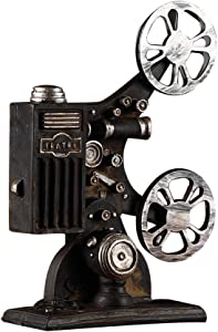 VOSAREA Vintage Film Projector Decor Retro Movie Film Projector Model Sculpture Desktop Crafts Home Office Ornament for Birthday Friends