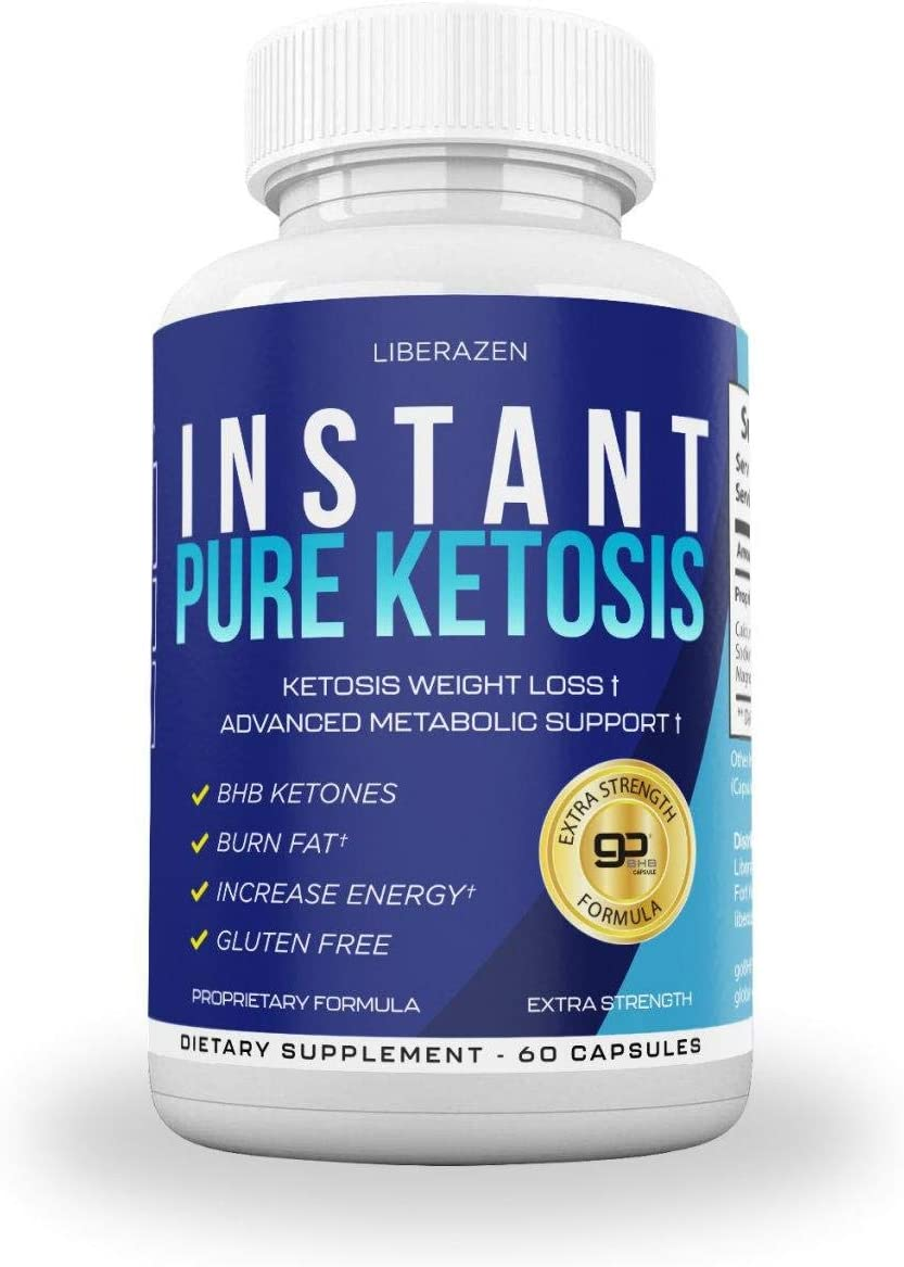 Instant Keto Pills - Advanced Weight Loss Diet Pill with Ketosis - Boost Energy, Get Focus, Manage Cravings Improve Metabolism - Keto BHB Supplement for Women and Men - 60 Caps