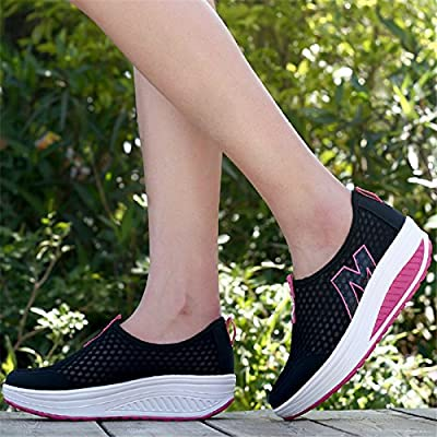 Height Increasing Sneakers Shoes Womens Shoes Sports Walking Shoes for Women Swing Shoes Breathable Wedge Jogging