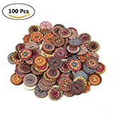Decorative Buttons for Crafts 1 Inch,100Pcs Vintage Wood - Best Reviews Guide