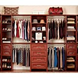 ClosetMaid Impressions 25 in. Dark Cherry Deluxe Hutch Closet Kit