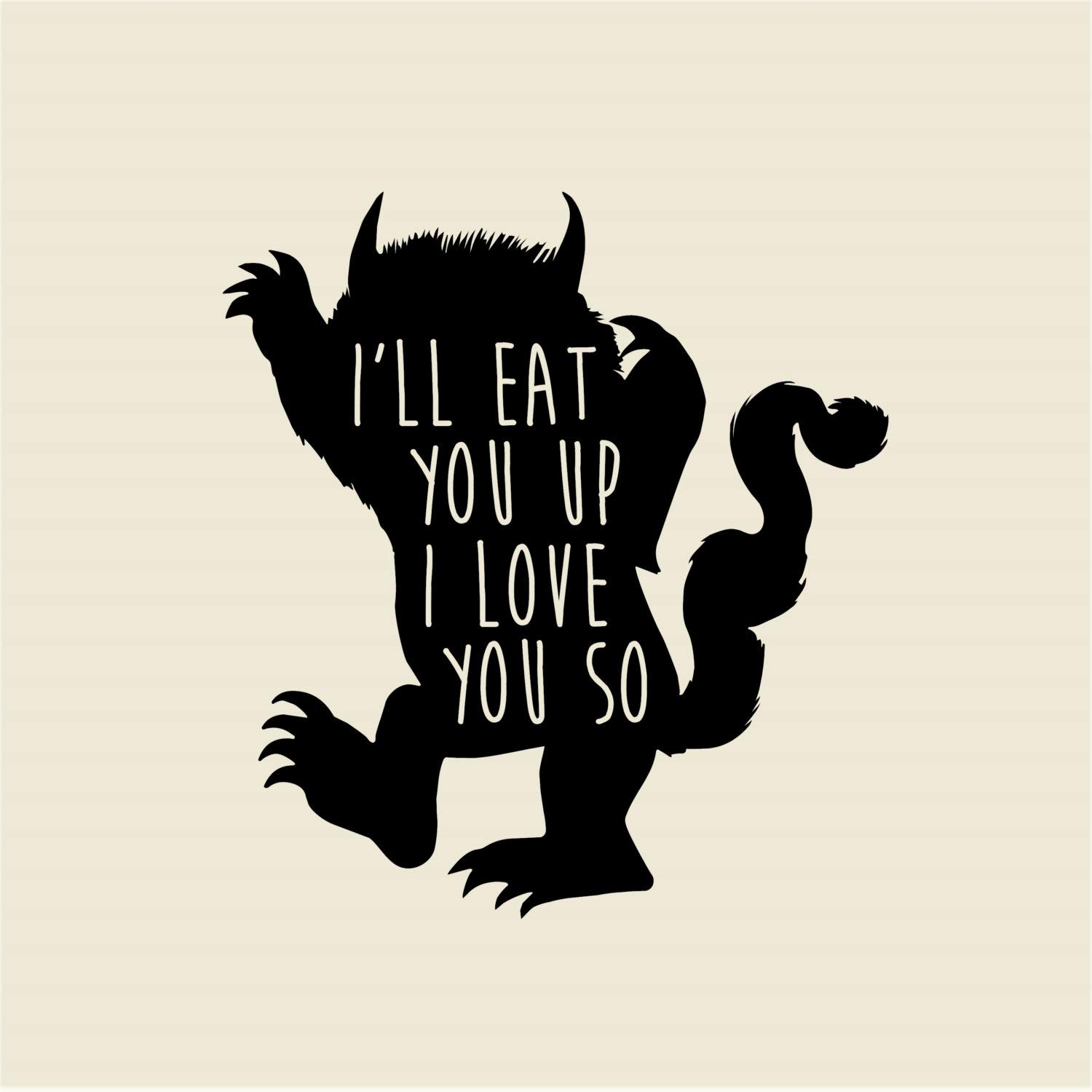 Best design amazing ill eat you up i love you so where the wild things are wall decal children wall stickers wall decal quotes kids wall vinyl children room