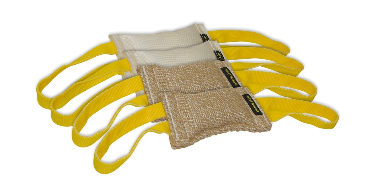 Dean & Tyler Bundle of 4 Tugs for Pets, 2-Jute and 2-Fire Hose, 8-Inch by 4-Inch