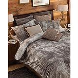 Riva Home Alaska Faux Wolf Fur Print Duvet Sheet and Pillowcase Set (Twin) (Brown)
