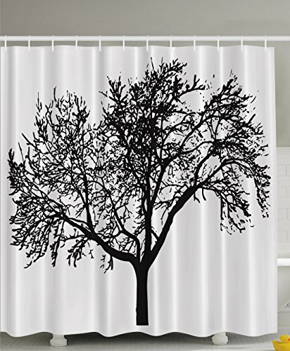 Print Fabric Black And White Home Textile Bath Decor Art Lover Modern Designing Creative Special Selection Auburn Shower Curtain
