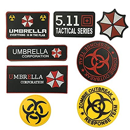 Nice Resident Evil Series Umbrella Corporation Pvc Badge Rubber Badges 3d Patch Applique For Clothing Cap Accessories Badges
