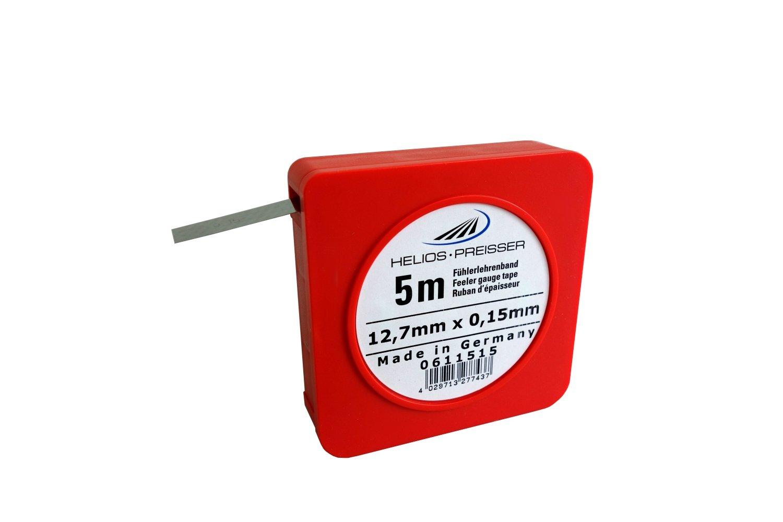 Helios-preisser 611515 - Espesores de cinta de calibre 5 x 13 mm, incluyendo el plá stico zó calo de 0,15 mm, 0 incluyendo el plástico zócalo de 0