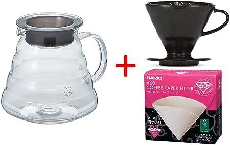 Hario - Juego de café con filtro de café, tamaño 2 y papel de filtro ...