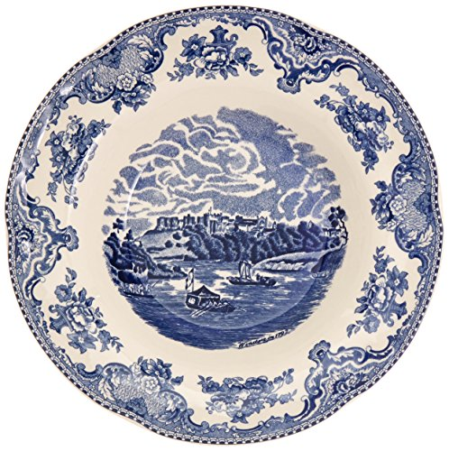 Johnson Brothers Old Britain Castles 8-1/2-Inch Rim Soup Bowl, Blue
