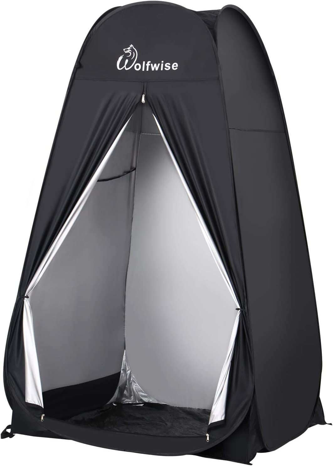 WolfWise 6.6FT Portable Pop Up Shower Privacy Tent Spacious Dressing Changing Room for Toilet Camping Biking Beach