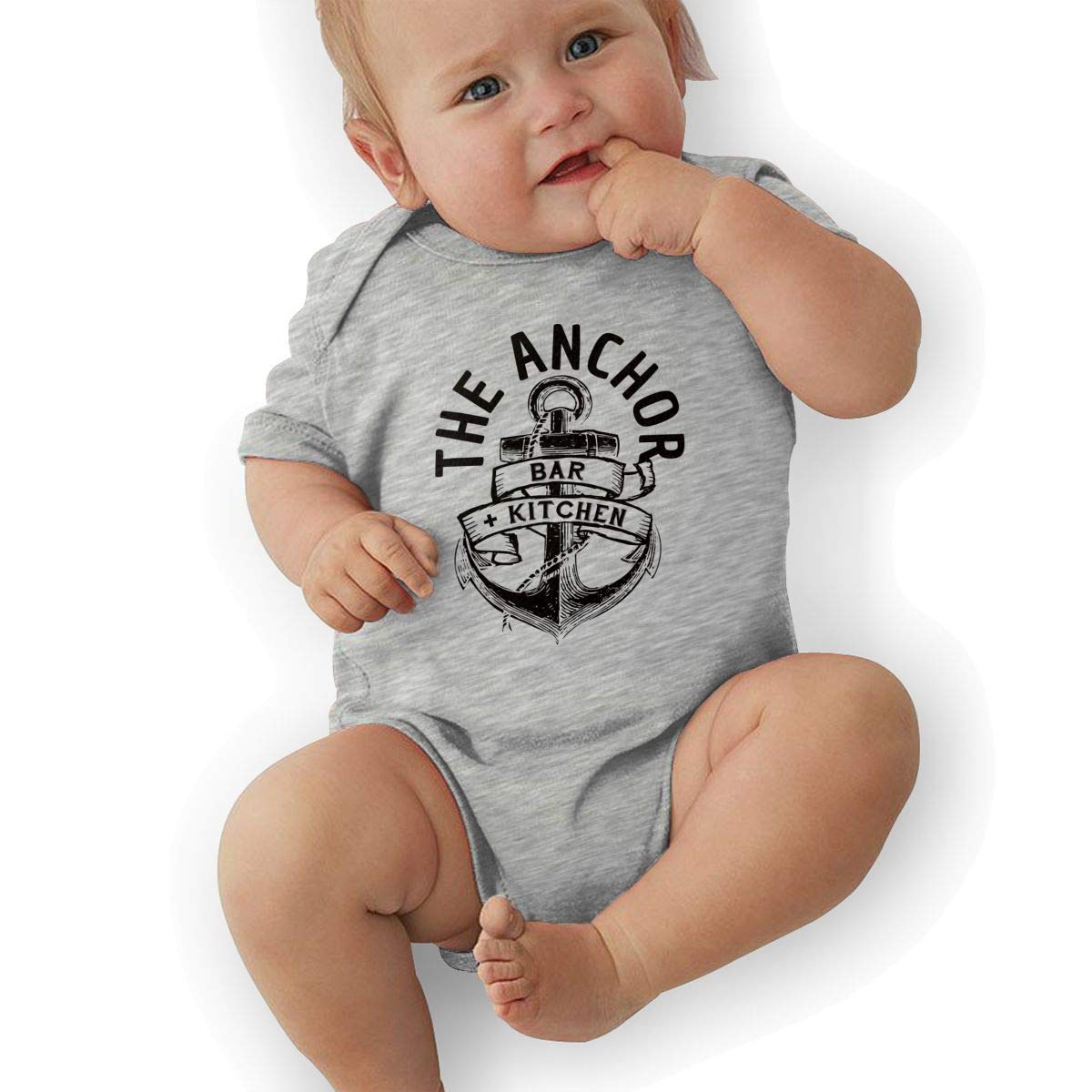 Toddler Baby Boys Bodysuit Short-Sleeve Onesie The Anchor Bar Kitchen Print Rompers Spring Pajamas