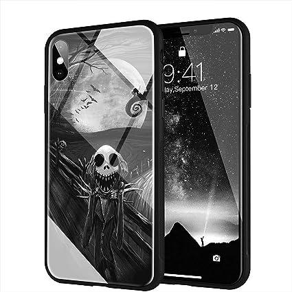 IIFENGLE iPhone 7/8 Coque, Pare-Choc Souple en Silicone avec Coque arrière en Verre trempé Compatible avec iPhone 7/8 AM-24 L'Étrange Noël de Monsieur ...