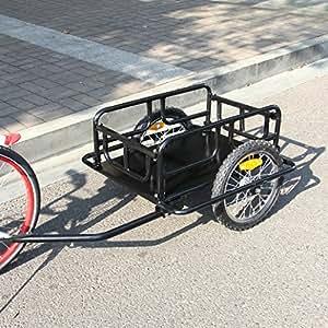 Esright Foldable Bike Trailer Cargo Utility Luggage Bicycle Trailer