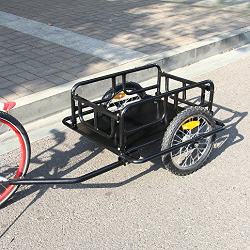 Esright Foldable Bike Trailer Cargo Utility Luggage Bicycle (Bike Cargo)