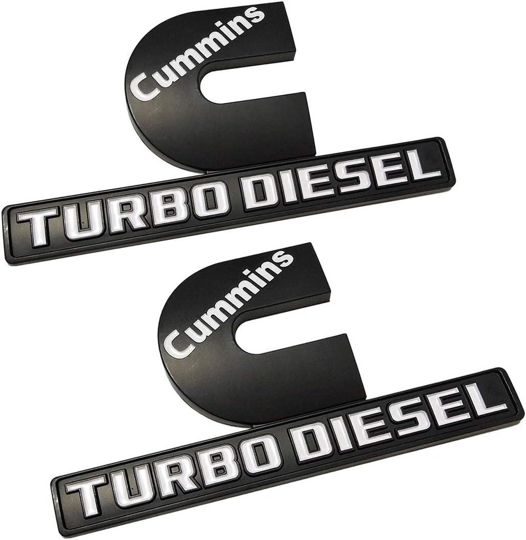 4 PCS FOR Dodge RAM 2500 Grille Tailgate Cummins Turbo Diesel Emblem Badge Black