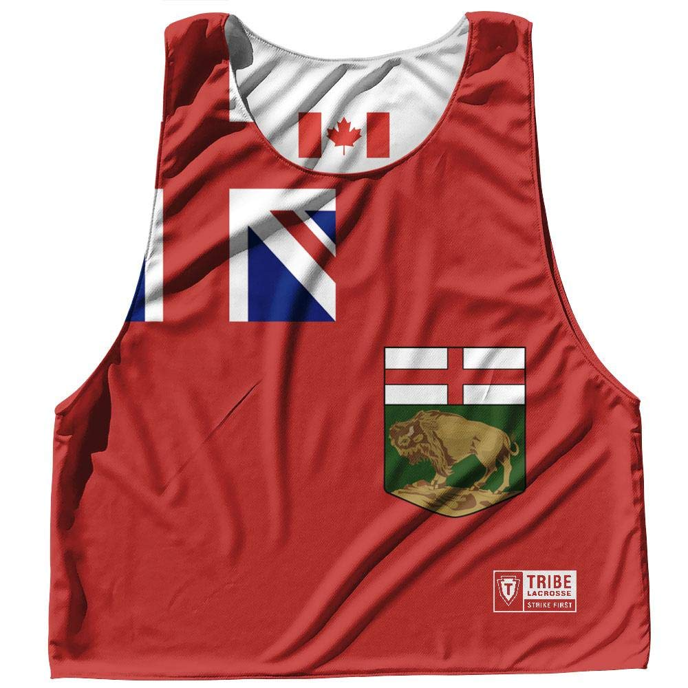 Manitoba Province Flag and Canada Flag Reversible Lacrosse Pinnie